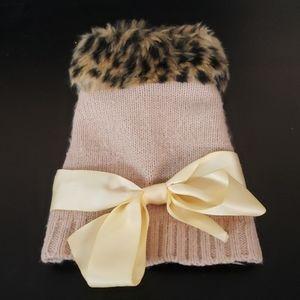 Leopard/Pink Dog Sweater